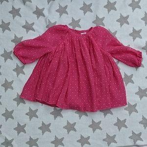 BabyGap Girls Polka Dot Tunic Top Shirt 3-6m